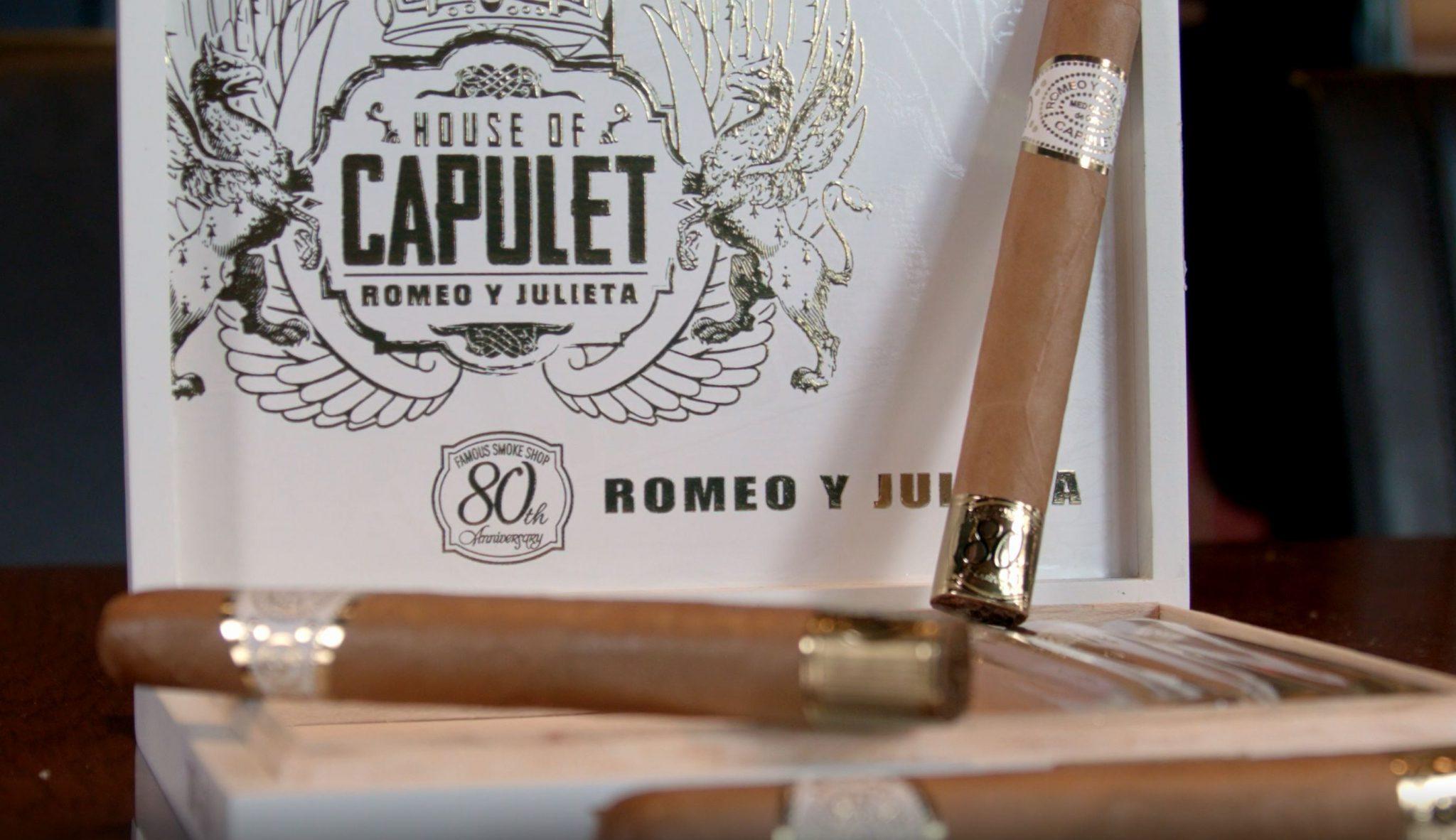 Romeo y Julieta House of Capulet 80th Anniversary cigar review video Toro cigar inside of cigar box vista
