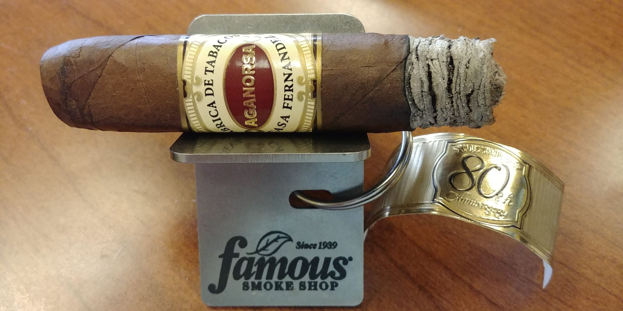 Aganorsa Leaf Famous 80th Anniversary Cigar Review at Famous Smoke Shop by John Pullo