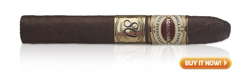 Aganorsa Leaf Famous 80th Anniversary Cigar Review at Famous Smoke Shop