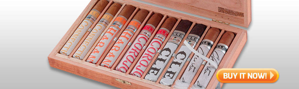 Father's Day Cigar Gift Ideas for Dad Under 100 Best of CLE cigars sampler at Famous Smoke Shop
