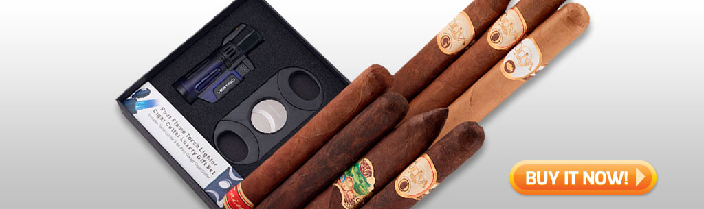Father's Day Cigar Gift Ideas for Dad Under 100 Under 75 Oliva Cigar gift set at Famous Smoke Shop