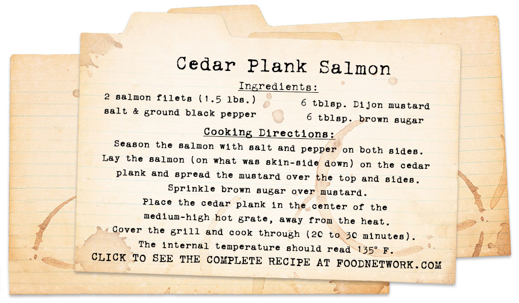best cigars for manning the grill cedar plank Salmon Recipe card