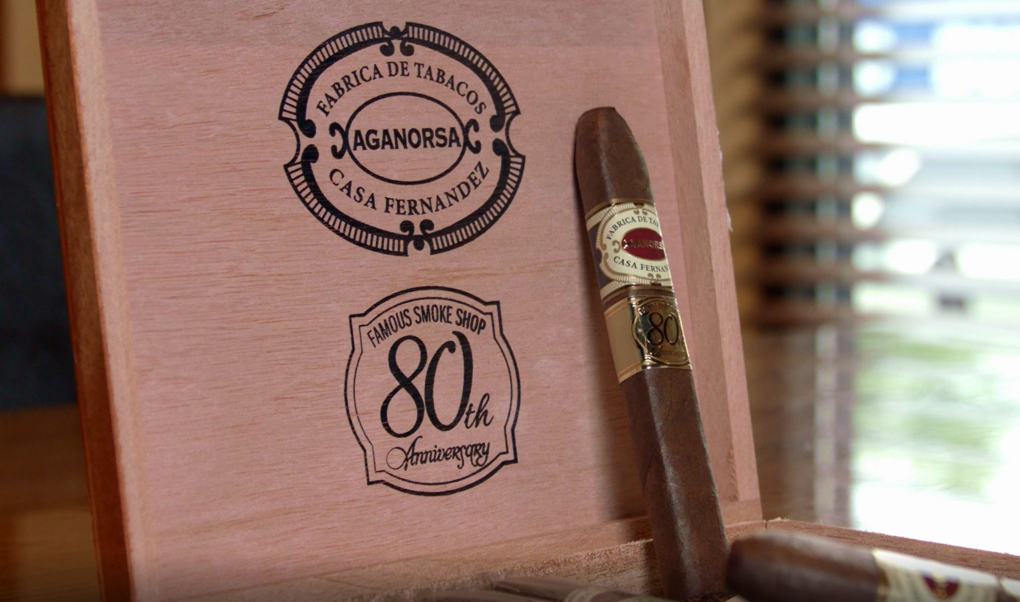 Aganorsa Leaf Famous 80th Anniversary Cigar Review at Famous Smoke Shop by Jared Gulick 2