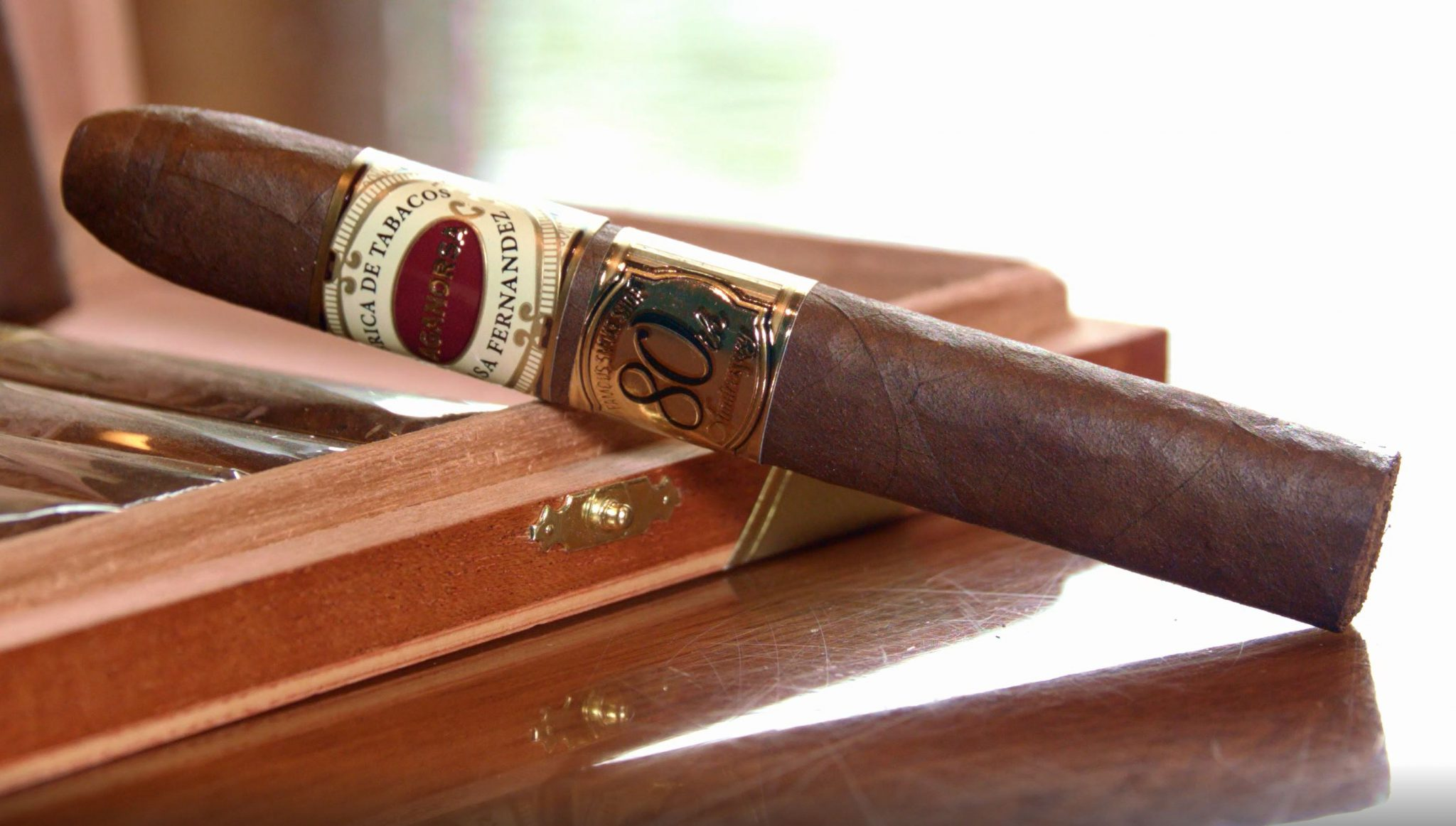 Aganorsa Leaf Famous 80th Anniversary Cigar Review video single cigar horizontal