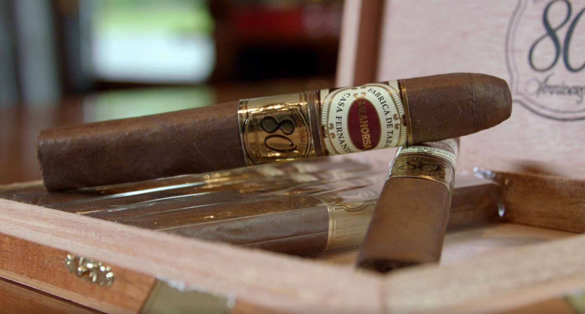 Aganorsa Leaf Famous 80th Anniversary Cigar Review at Famous Smoke Shop by John Pullo setup