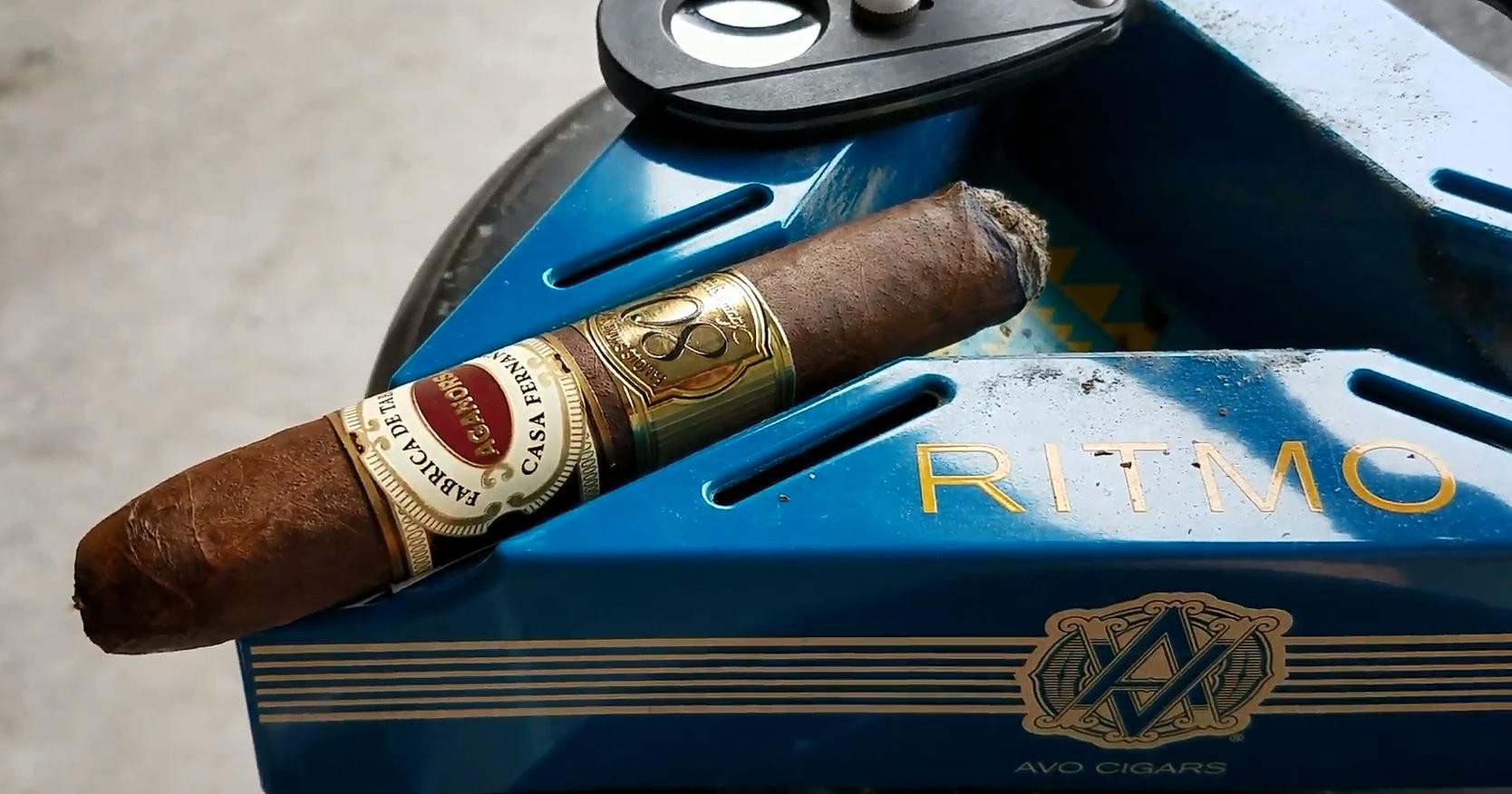 nowsmoking Aganorsa Leaf Famous Smoke Shop 80th Anniversary Toro cigar review by Gary Korb