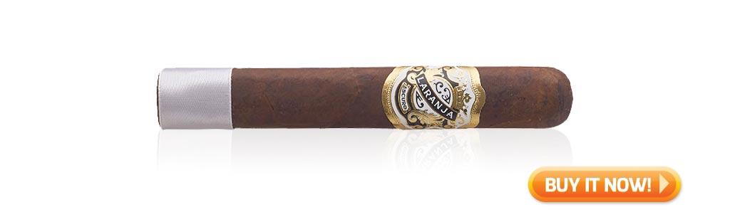 nowsmoking laranja reserva escuro cigar review robusto grande at Famous Smoke Shop