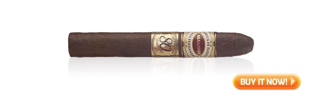 #nowsmoking Aganorsa Leaf Famous Smoke Shop 80th Anniversary Toro cigar review at Famous Smoke Shop