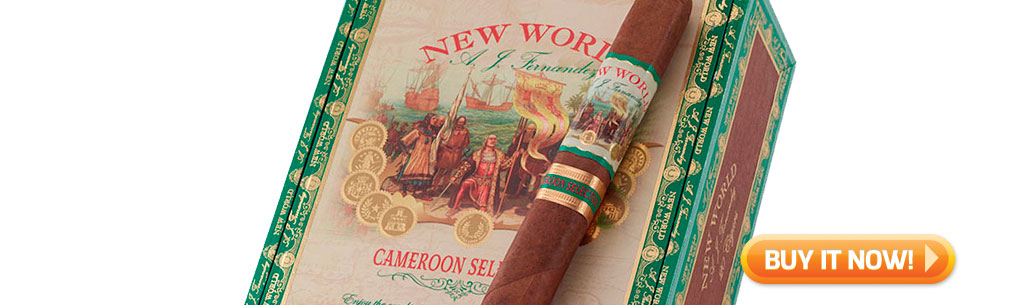 top new cigars may 13 2019 New World Cameroon by AJ Fernandez cigars at Famous Smoke Shop