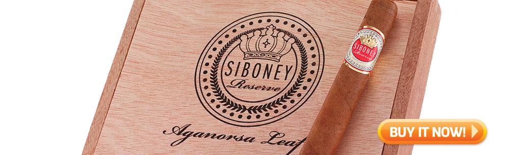 top new cigars may 13 2019 Aganorsa Siboney Reserve cigars at Famous Smoke Shop