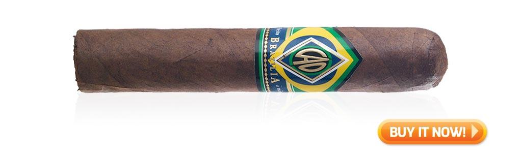 Top Rated Nicaraguan Cigars Under $10 CAO Brazilia Gol Cigars at Famous Smoke Shop