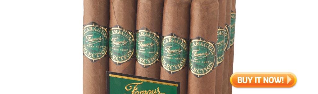 Top Rated Nicaraguan Cigars Under $10 Famous Nicaraguan Selection 6000 cigars at Famous Smoke Shop