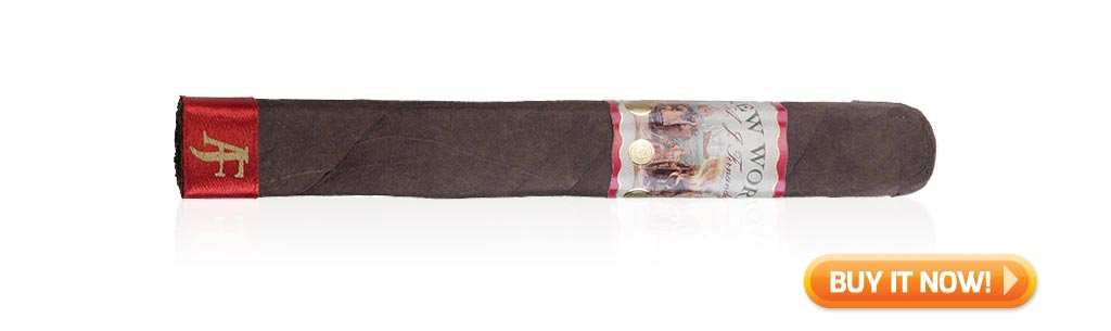 Top Rated Nicaraguan Cigars Under $10 New World by AJ Fernandez Cigars Toro at Famous Smoke Shop