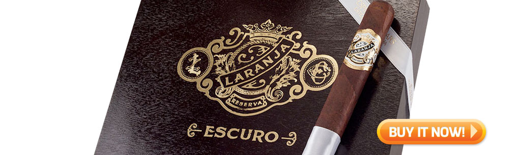 top new cigars june 24 2019 laranja reserva escuro cigars at Famous Smoke Shop