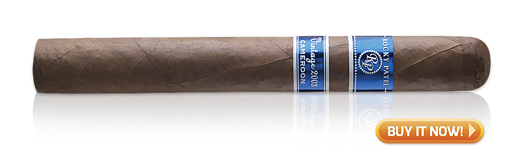 Best Cigars for Morning, Noon and Night Rocky Patel Vintage 2003 Cameroon cigars at Famous Smoke Shop