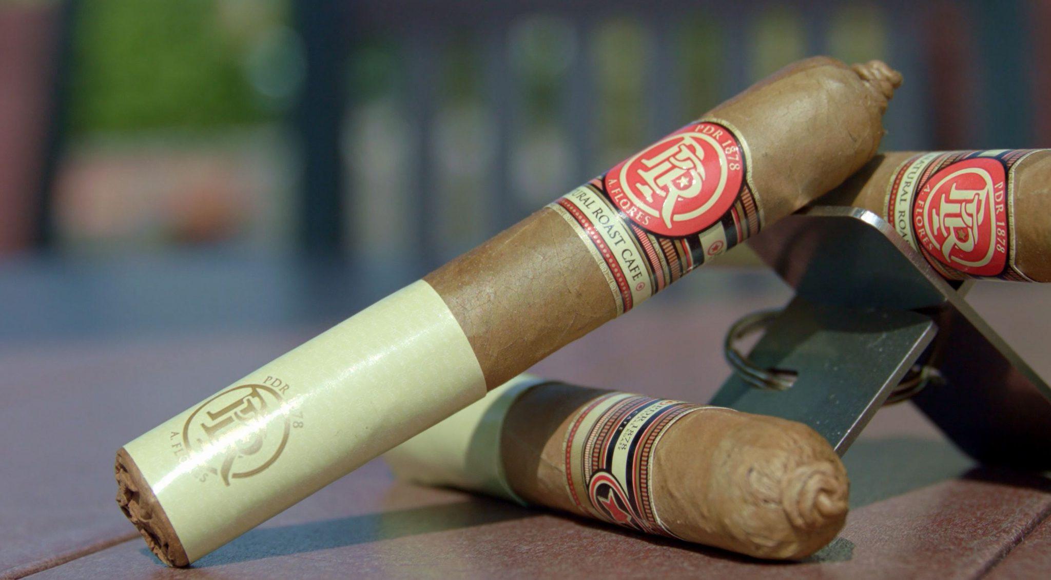 PDR cigars PDR 1878 Natural Roast Café Cigar Review at Famous Smoke Shop cigar setup 2
