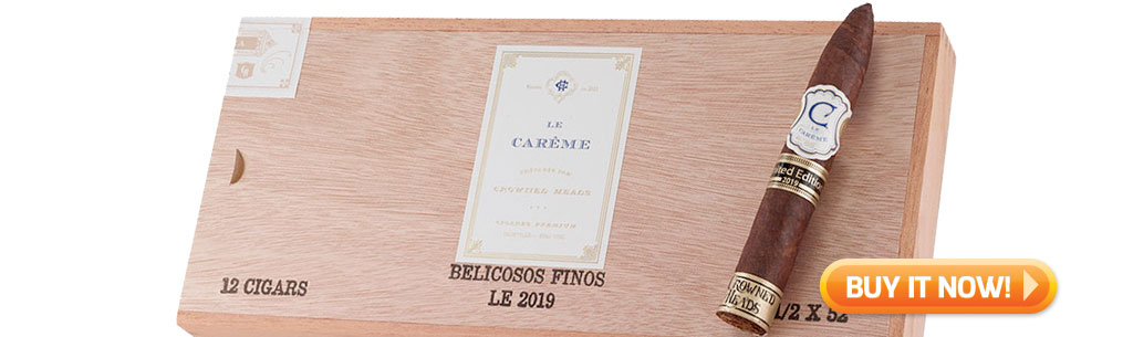 top new cigars august 5 2019 crowned heads le careme belicoso fino LE 2019 cigars at Famous Smoke Shop