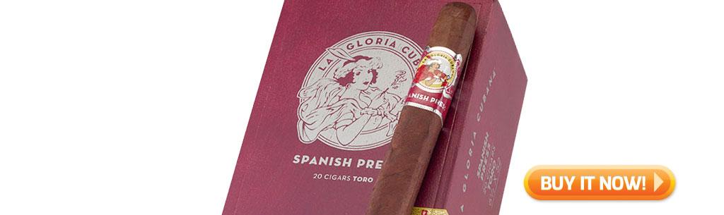 top new cigars august 5 2019 la gloria cubana spanish press cigars at Famous Smoke Shop