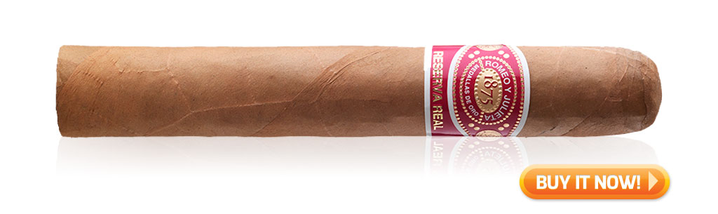 10 top rated dominican cigars under $10 Romeo y Julieta Reserva Real cigars at Famous Smoke Shop