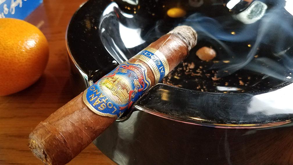#nowsmoking san lotano dominicano cigar review robusto by Gary Korb at Famous Smoke Shop