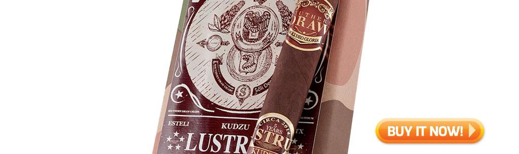 top new cigars september 2 2019 southern draw kudzu lustrum cigars at Famous Smoke Shop