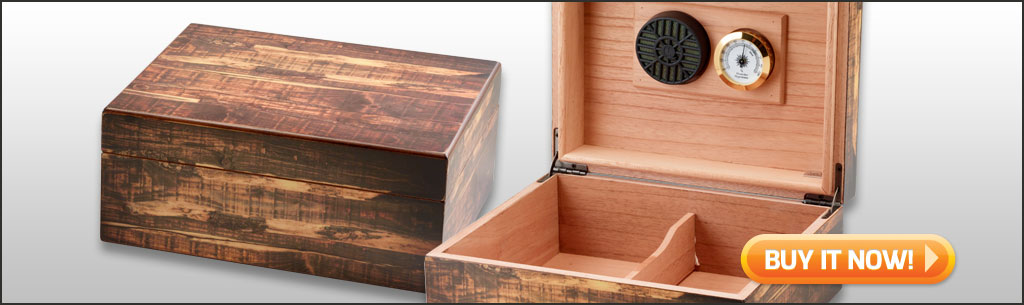 best cigar humidors under $50 Adirondack Antique Rustic humidor 50 cigar humidor at Famous Smoke Shop