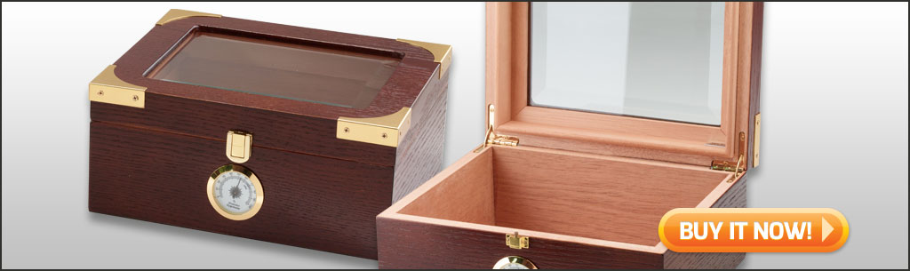 best cigar humidors under $50 Capri glass top humidor 25 cigar humidor at Famous Smoke Shop