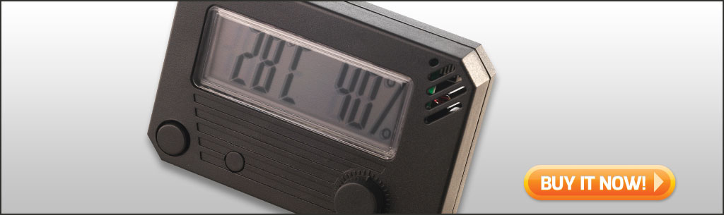 best cigar humidors under $50 digital hygrometer for humidor at Famous Smoke Shop
