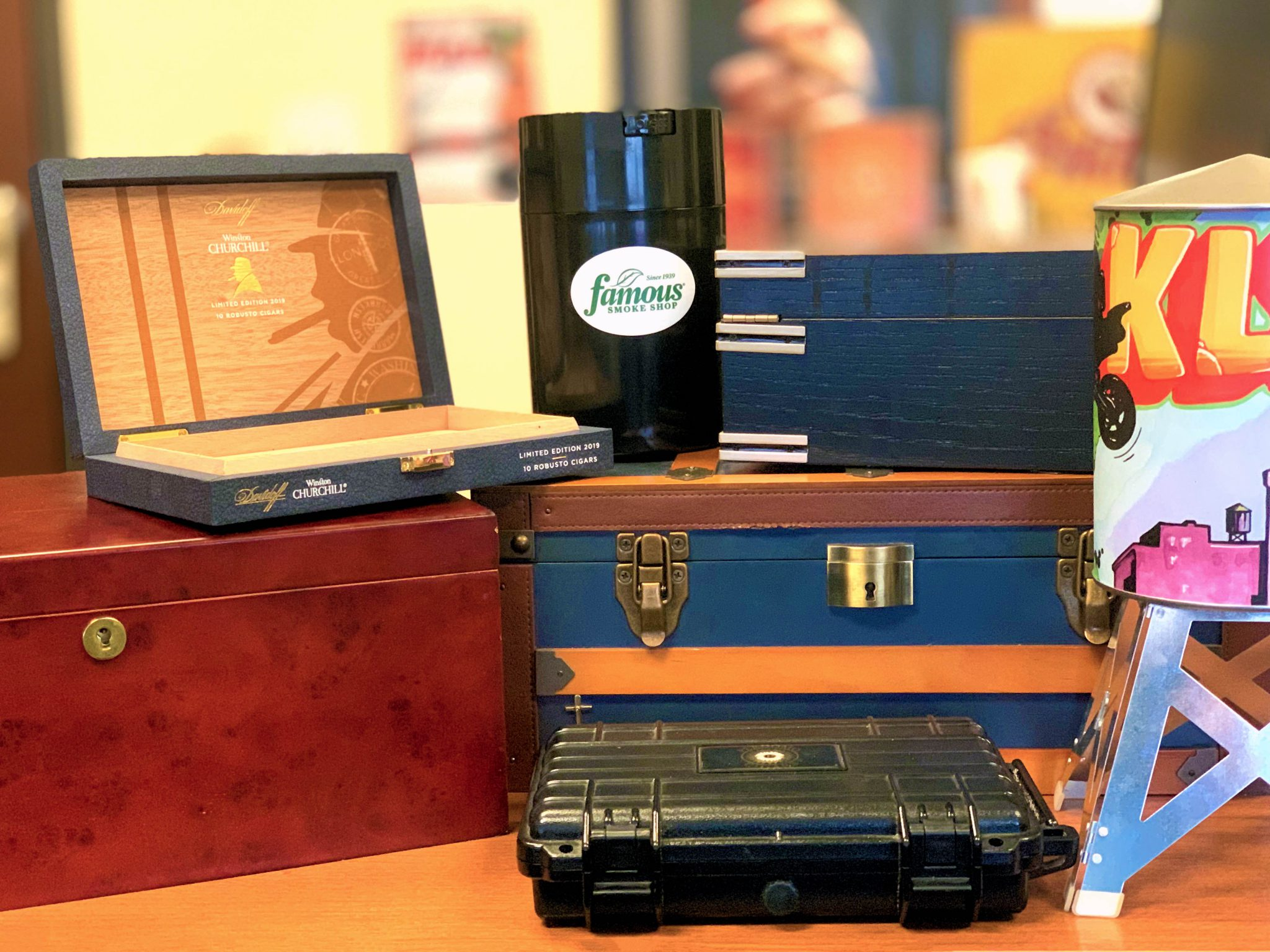 best cigar humidors under $50 what size humidor should I buy humidor choices at Famous Smoke Shop