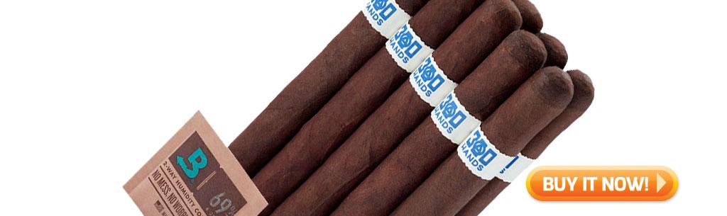 a bundle of 300 Hands Maduro Lancero cigars at Famous Smoke Shop
