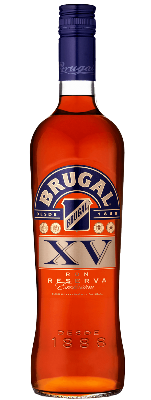 a bottle of Brugal XV Rum and cigar pairing