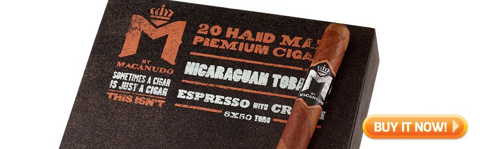 M by Macanudo Espresso Toro Box of Cigars at Famous Smoke Shop
