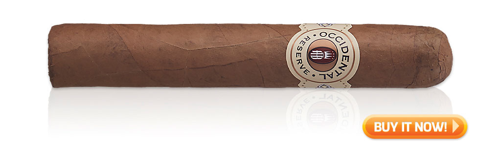 #nowsmoking Alec Bradley Occidental Reserve Connecticut robusto cigar review at Famous Smoke Shop