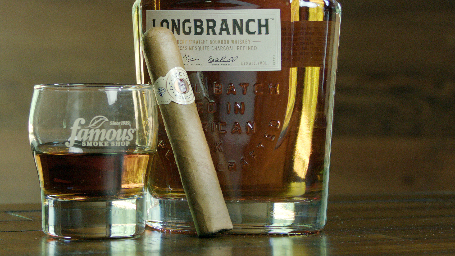 Occidental Reserve CT cigar paired with Longbranch Bourbon