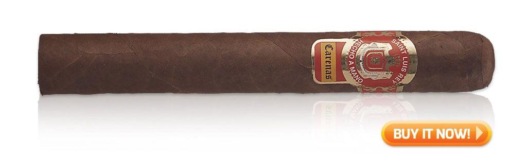 Saint Luis Rey Carenas Toro cigar review at Cigar Advisor and Famous Smoke Shop