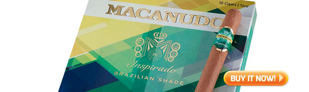 Macanudo Inspirado Brazilian Shade Box and single cigar from Cigar Advisor Top New Cigars