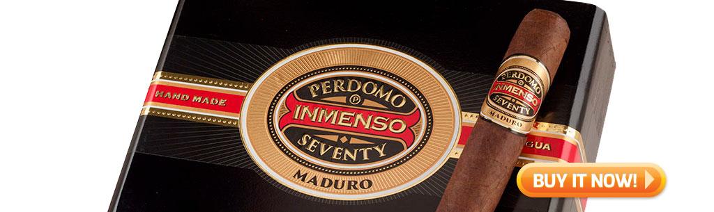 Perdomo Inmsenso Seventy Box and Cigar from Cigar Advisor Top New Cigars
