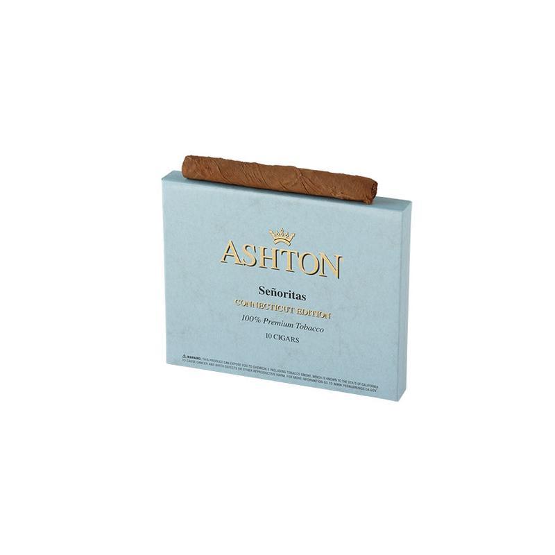 Ashton Small Cigars  Senoritas Connecticut (10)
