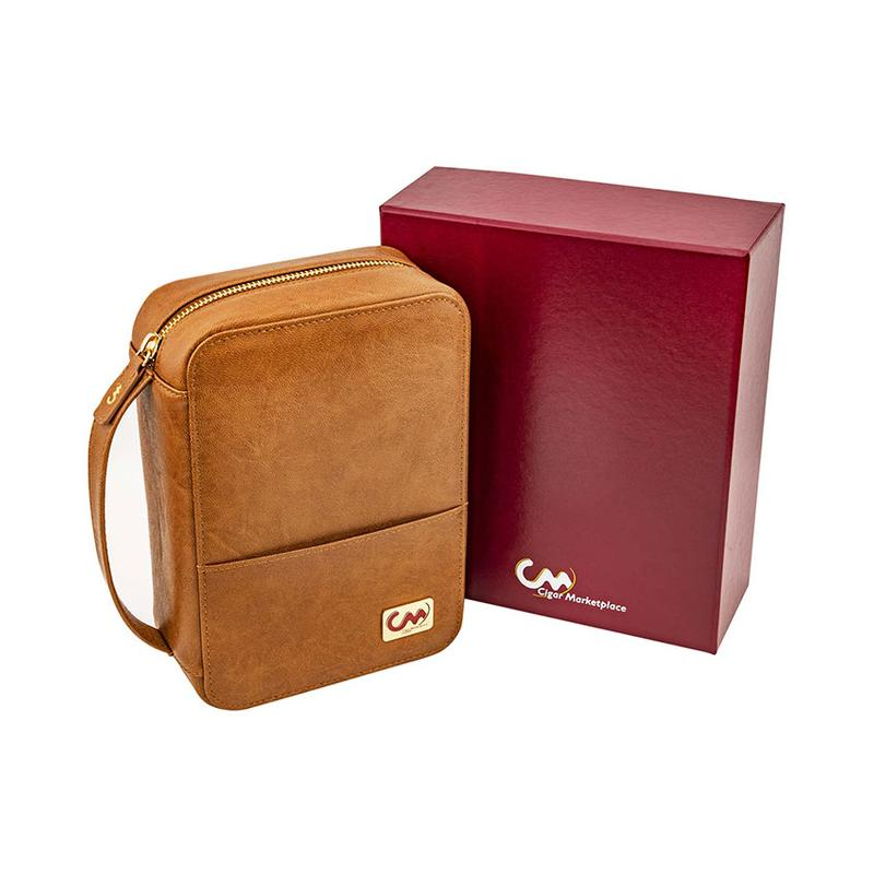 Cigar Marketplace High Quality Leatherette Travel with Lighter and Cutter