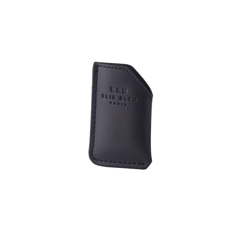 Elie Bleu  Delgado Jet Flame Lighter Case Black Leather