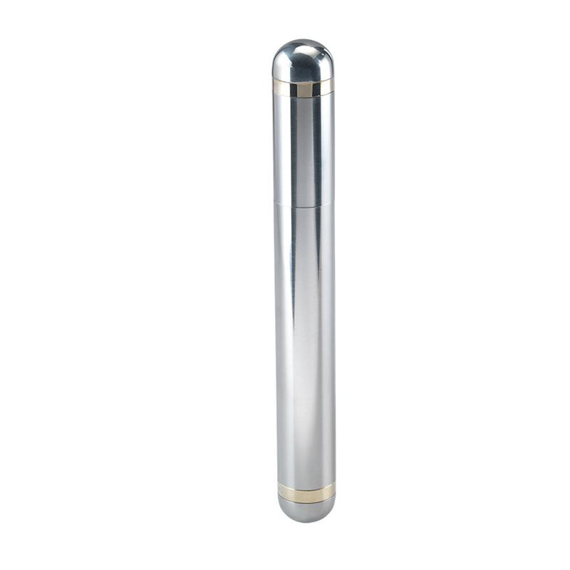 Famous Quality Imports Stainless Steel Cigar Tube 6.5 Inches Long