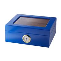 Capri 25-50 Count Blue Glasstop Humidor
