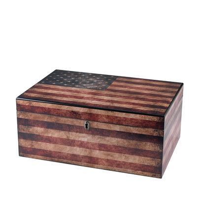 Quality Importers Old Glory 100 Count Humidor