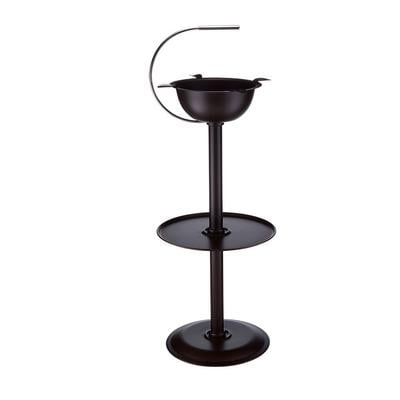 Stinky Floor Stand Powder Coated Brown Ashtray No Handle