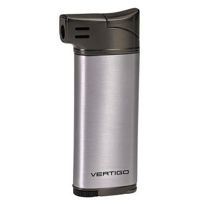 Vertigo Dublin Pipe Lighter Silver/Gunmetal