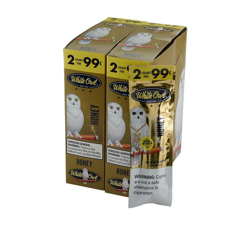White Owl 2 for 99c White Owl Honey 30/2