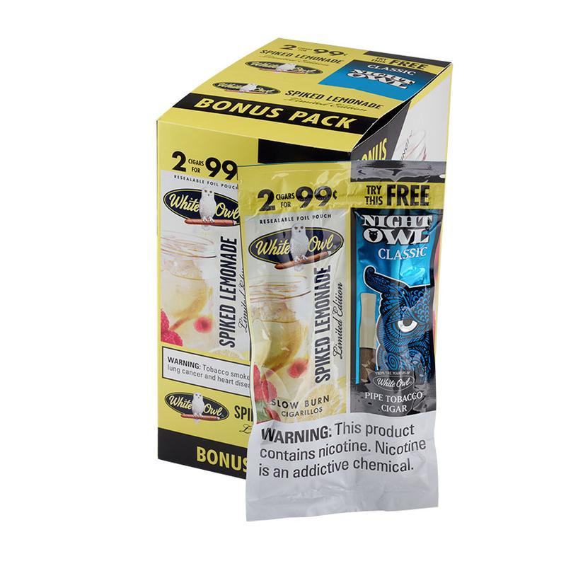 White Owl 2 for 99c White Owl Spiked Lemonade 15/3