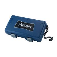 Xikar 5 Count Cigar Humidor Blue