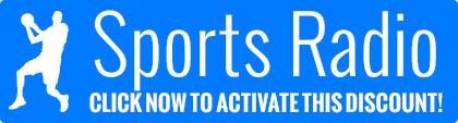 Sports radio free shipping coupon