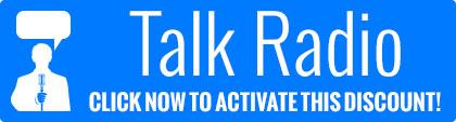 Talk radio free shipping coupon